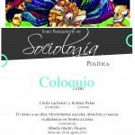 """Coloquio, en torno a la obra """"Movimientos sociales, derechos y nuevas ciudadanías en América Latina, de Cécile Lachenal y Kristina Pirker."""