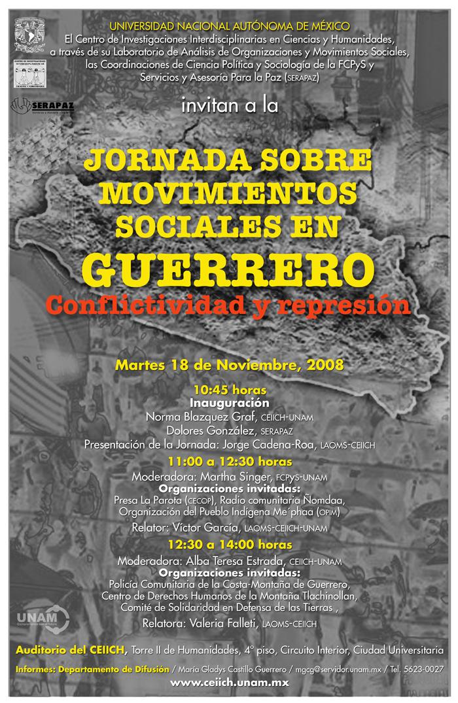 Jornada sobre Movimientos Sociales en Guerrero