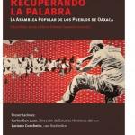 Presentación del libro Recuperando la Palabra, Lunes 26 de agosto de 2013, 18:30 horas Centro Cultural Elena Garro.