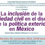 Política Exterior y Sociedad Civil, 20 noviembre 2013, CEIICH-UNAM