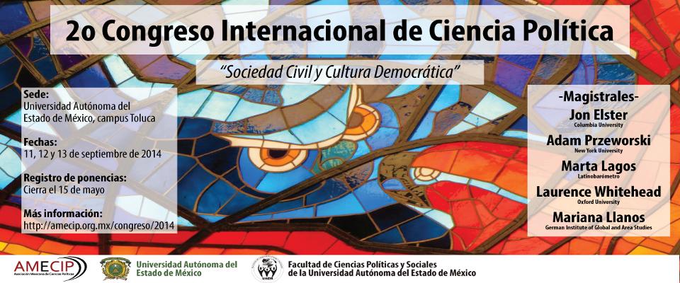 Convocatoria al 2o Congreso Internacional de Ciencia Política - AMECIP