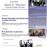 Conferencias UNAM Mark E. Warren