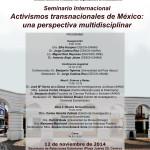 Activismos transnacionales de México UNAM CEIICH-SRE, 12 de noviembre de 2014