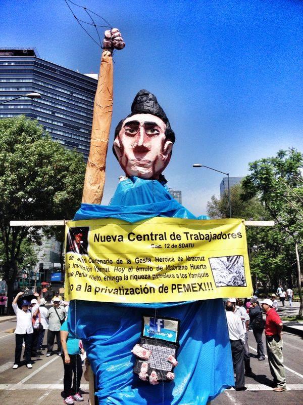 Marcha por el Día Internacional del Trabajador, mayo 1, 2014 - Foto: Nestor Marrón