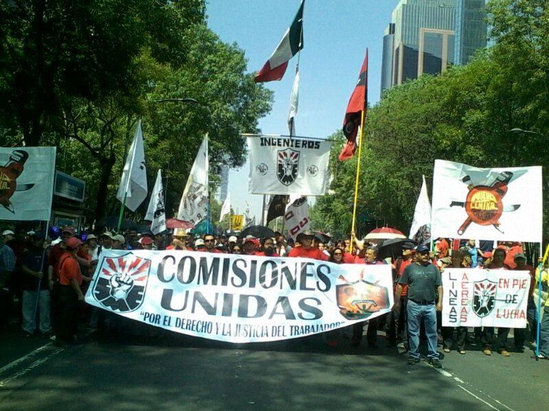 Marcha por el Día Internacional del Trabajador, mayo 1, 2014 - Foto: Cristian Estrada