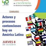 Seminario Actores y procesos contenciosos hoy en América Latina