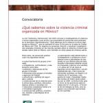 CIDE Qué sabemos de la violencia criminal organizada en México