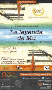 Cartel. La leyenda de Mu de Carlos Virgen, del 11 de mayo al 15 de junio
