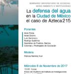 Defensa del agua en la Ciudad de México