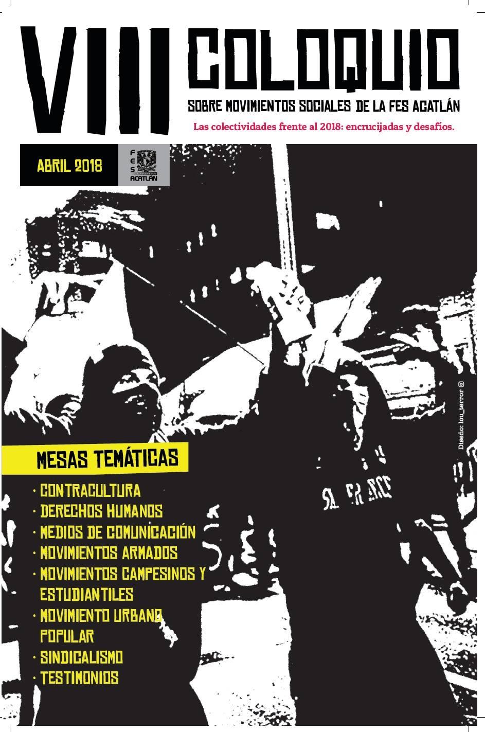 Cartel VIII Coloquio sobre Movimientos Sociales