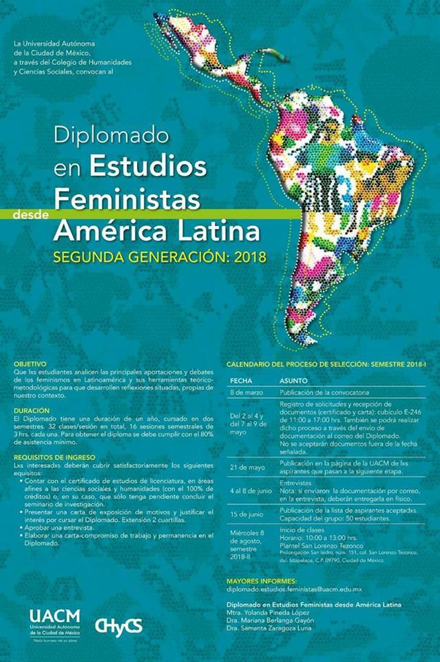 Cartel Diplomado en Estudios Feministas desde América Latina