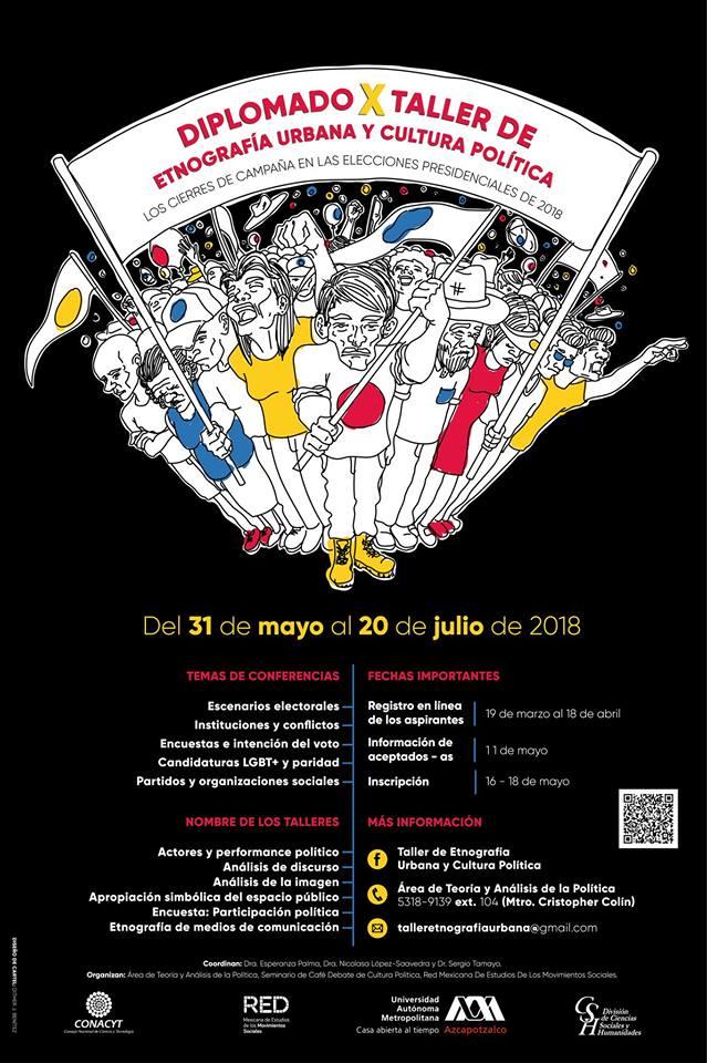 Cartel Diplomado X Taller de etnografía urbana y cultura política