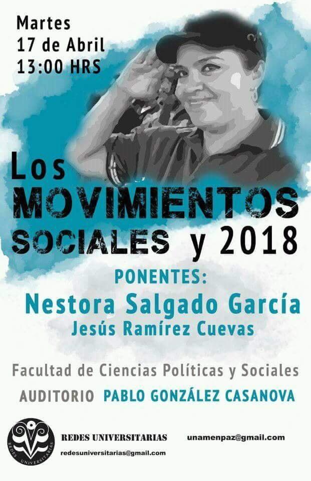 Cartel Los movimientos sociales y 2018
