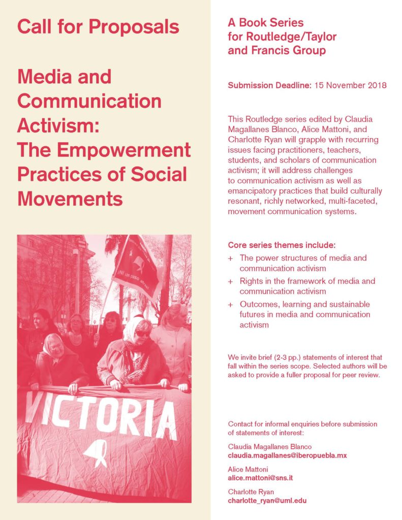Call for Proposals Media and Communication Activism: The Empowerment Practices of Social Movements