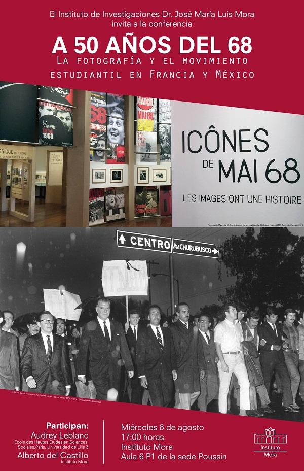 Cartel conferencia A 50 años del 68