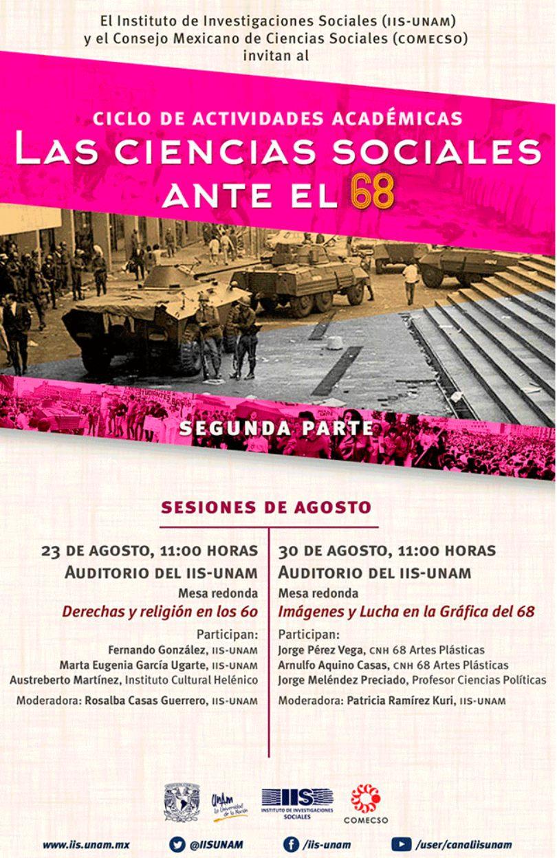 Las Ciencias Sociales ante el 68 | sesiones agosto