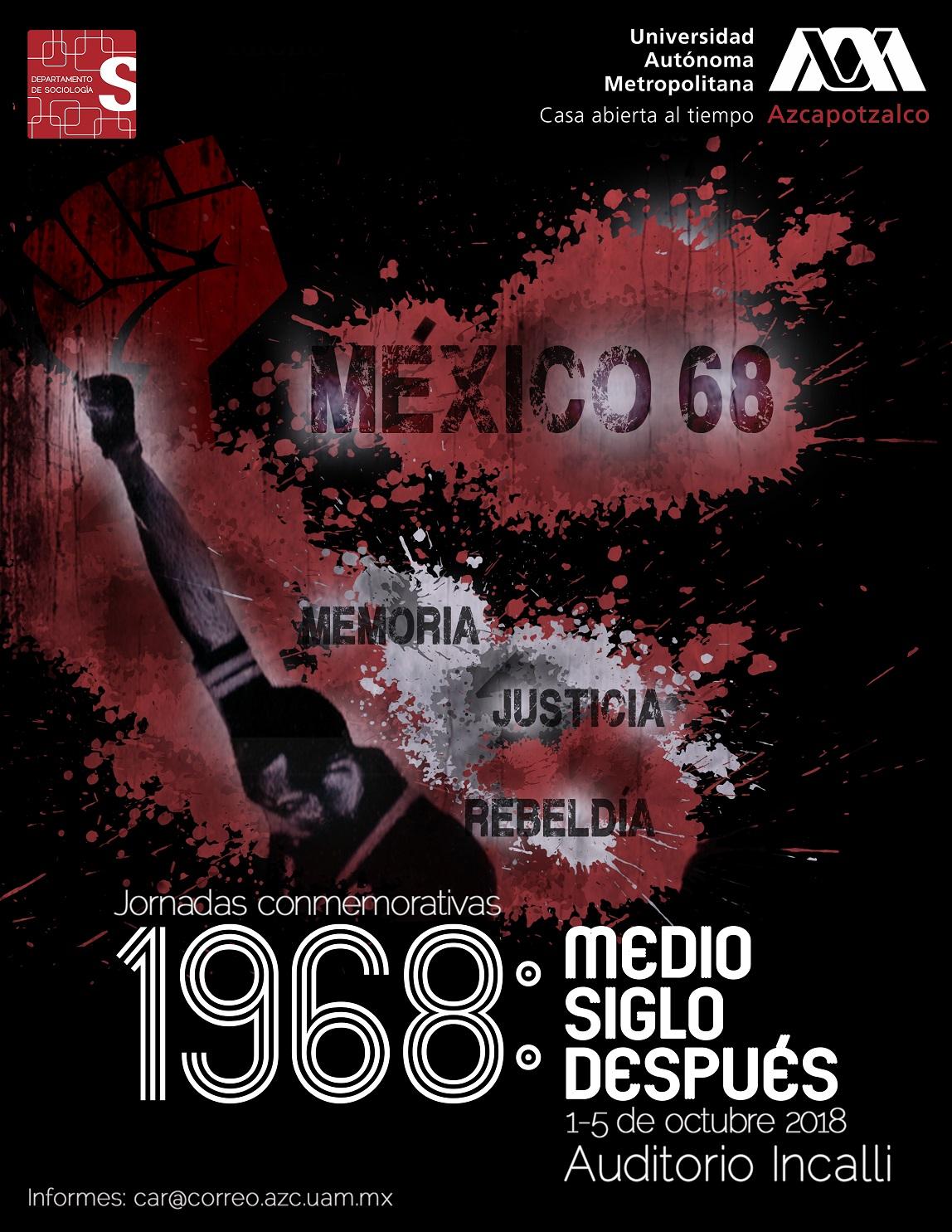 Cartel Jornadas conmemorativas 1968