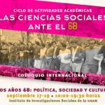 Coloquio. Los años 68: política, sociedad y cultura