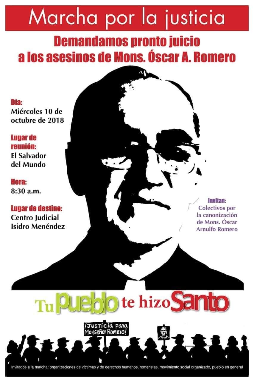 Marcha por la justicia a Mons. Romero