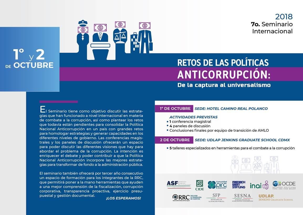 Seminario internacional: Retos de las políticas anticorrupción