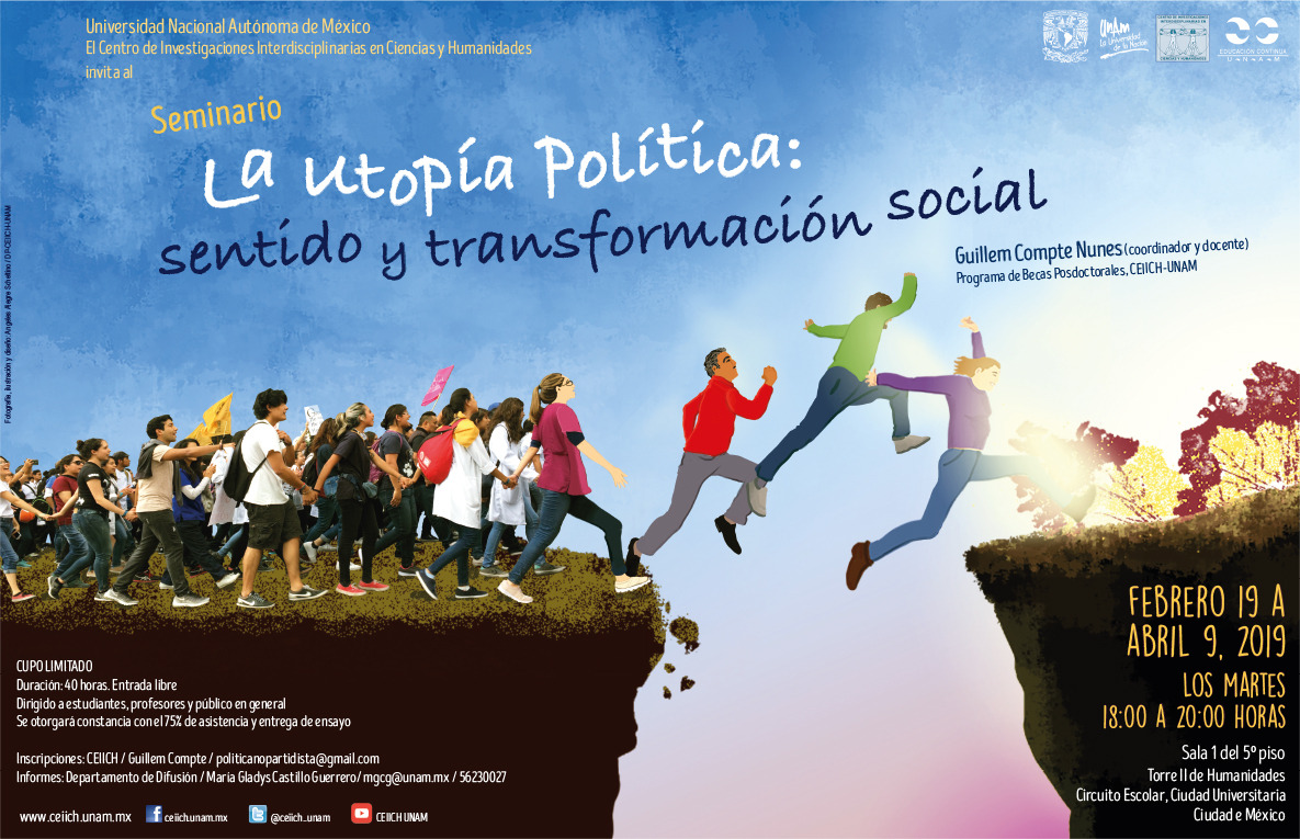 Cartel La utopía política: sentido y transformación social