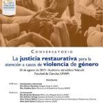 La justicia restaurativa para la atención a casos de violencia de género