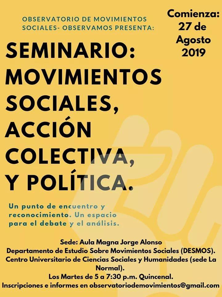 Movimientos sociales, acción colectiva y política