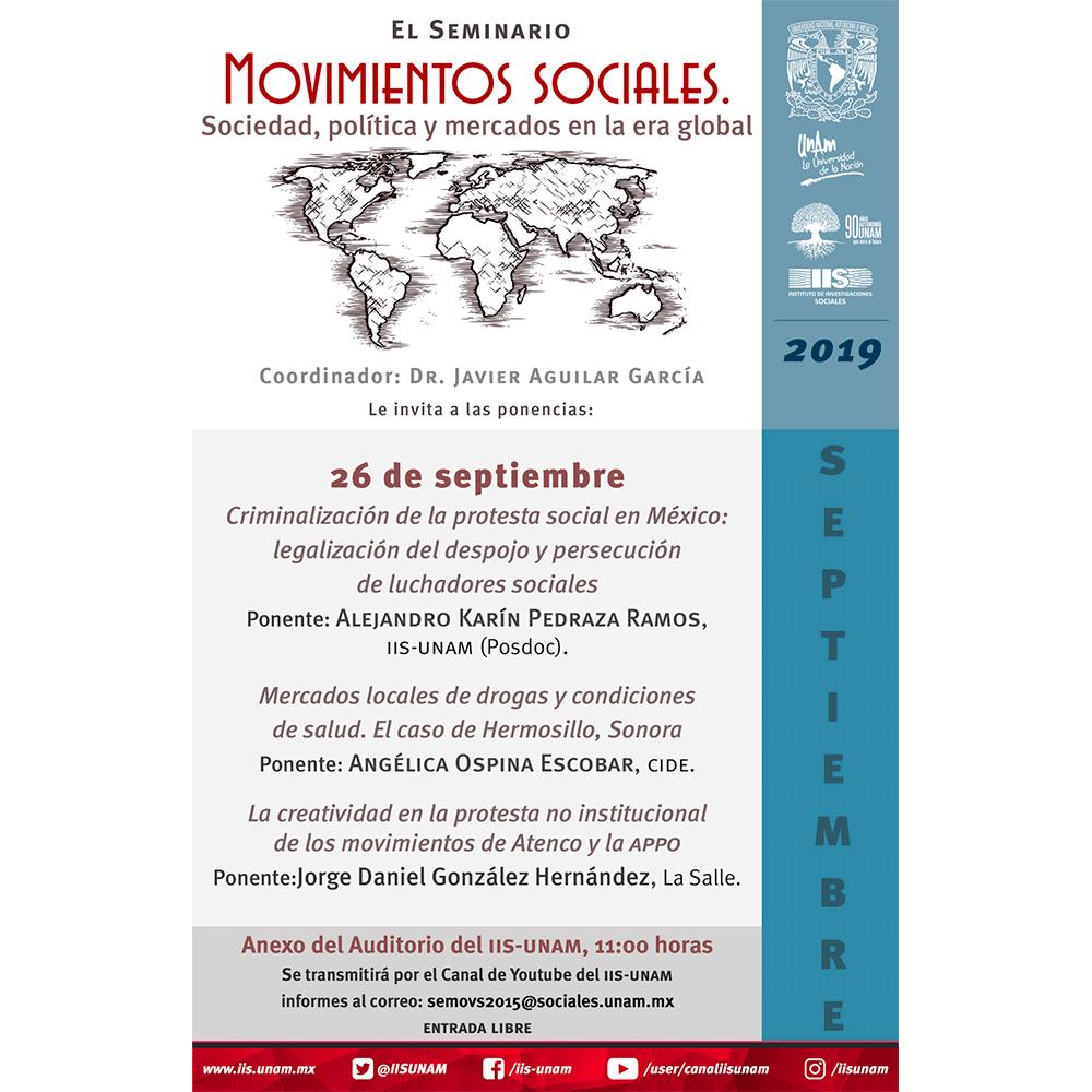 Criminalización de la protesta social en México: legalización del despojo y persecución de luchadores sociales.