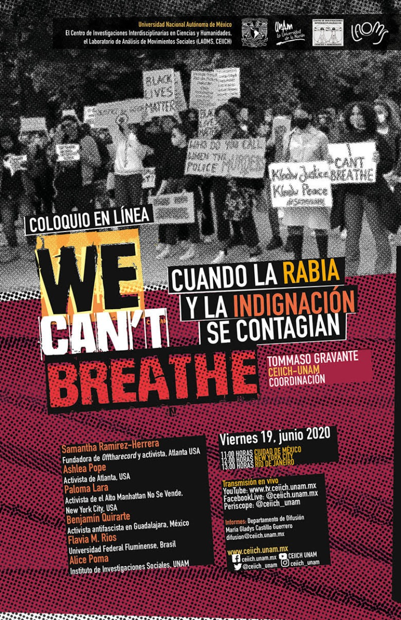 Coloquio We can't breathe. Cuando la rabia y la indignación se contagian
