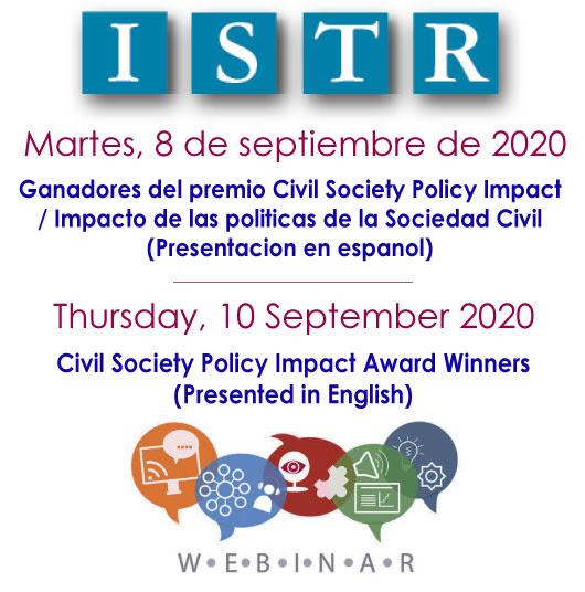 Ganadores del premio Impacto de las políticas de la Sociedad Civil
