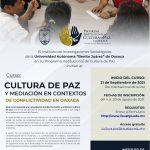 Cultura de paz y mediación en contextos de conflictividad en Oaxaca